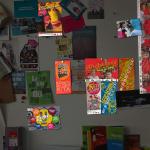 ... am Rande noch ein paar Produkte von mir an der Kulturbüropinwand entdeckt! ...