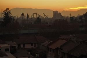 Mein erster Blick aus dem Fenster in Santiago